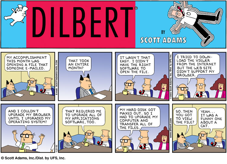 False Positives Dilbert My Accomplishment This Month Was
